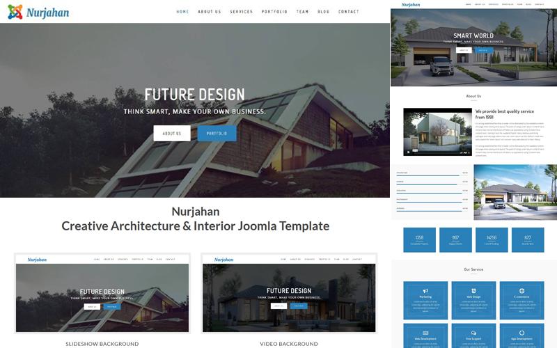 Nurjahan - Template Joomla de Arquitetura e Interior
