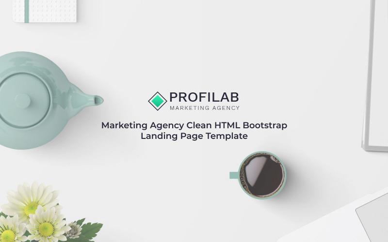 Profilab - Маркетинговое агентство Чистый шаблон целевой страницы HTML Bootstrap