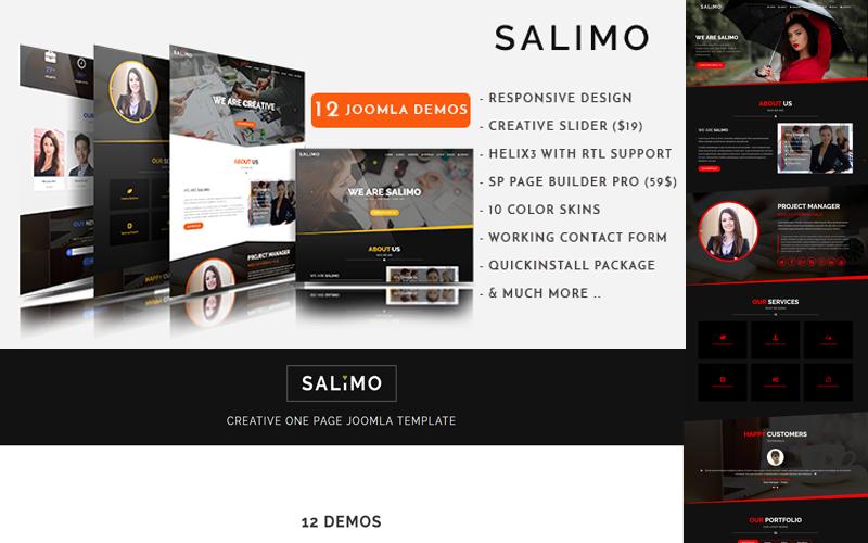 Salimo - Creative One Page Joomla Template