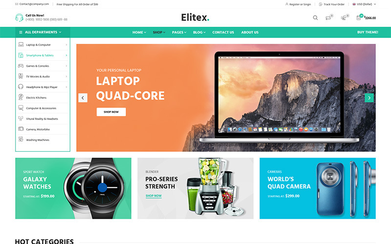 Elitex - Многоцелевая тема WooCommerce