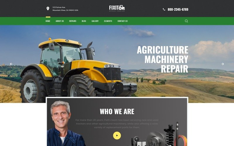 FIXIT - Tractor Repair Multipage Classic HTML Website Template