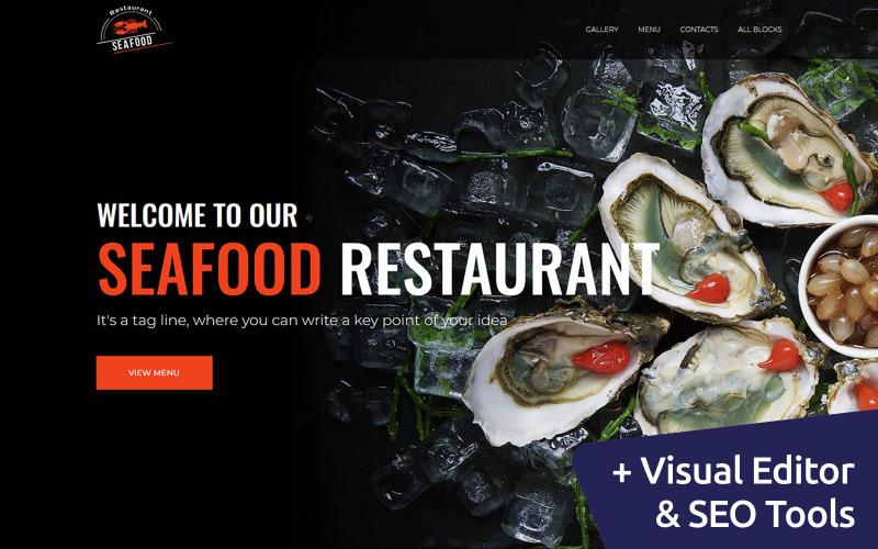 Frutos do mar - Modelo de página de destino de restaurante