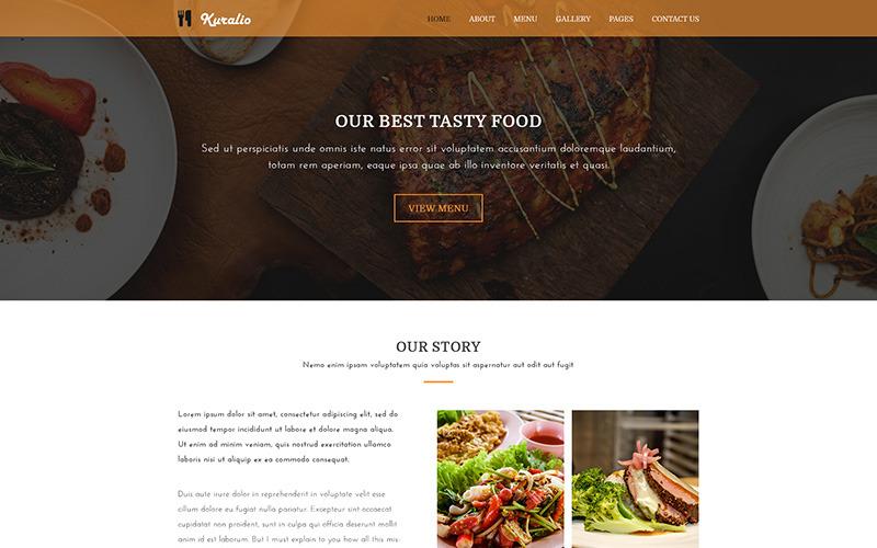 Куралио | PSD шаблон Еда и ресторан