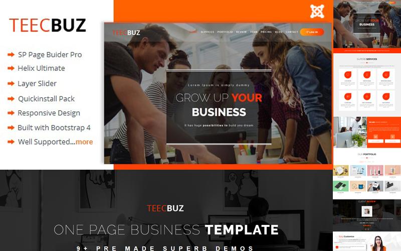 TeecBuz - Business Onepage Joomla Template