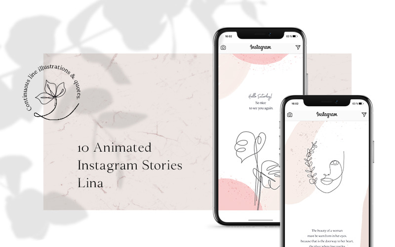 ANIMATED Instagram Stories – Lina Social Media Template