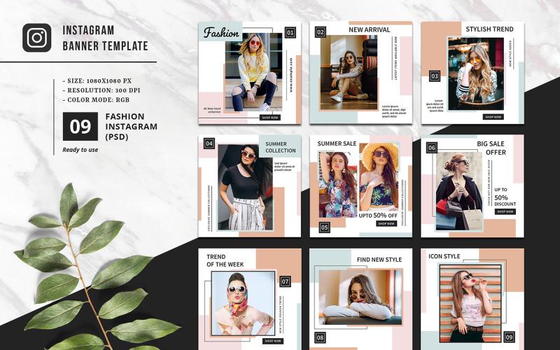 Modèle de médias sociaux Instagram promotionnel de mode