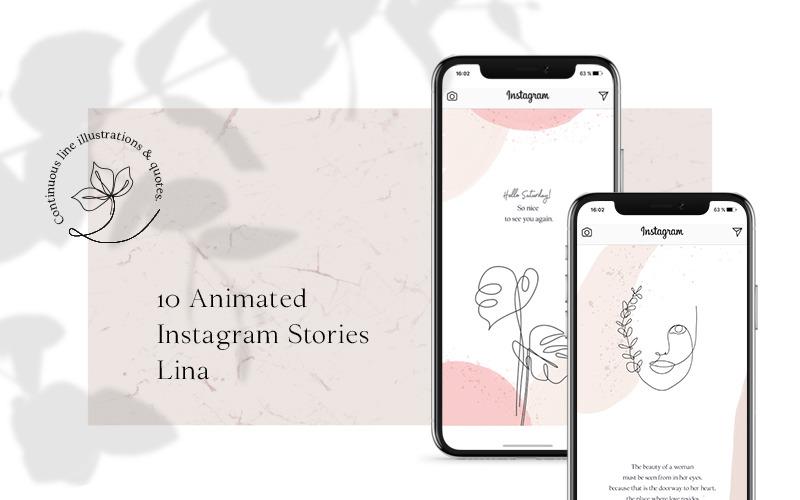 Historias de Instagram ANIMADAS - Plantilla de redes sociales de Lina