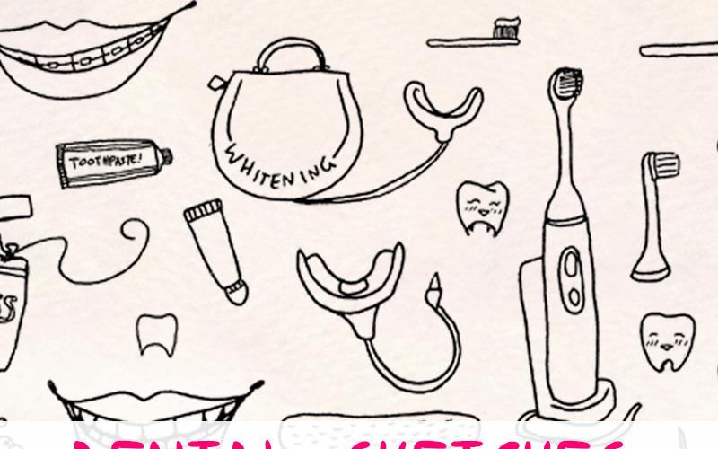 77 Zubní a zubní vektorová grafika - ilustrace