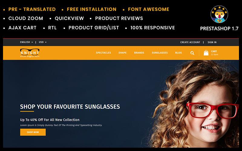 Knight Online szemüveg áruház PrestaShop téma
