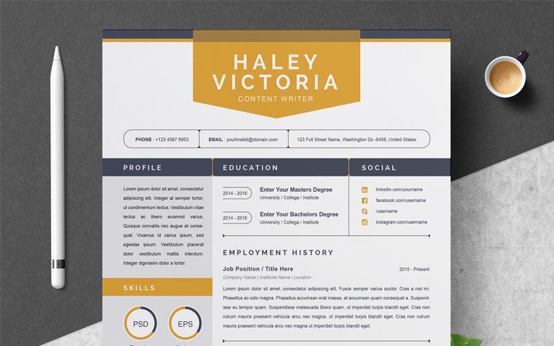 Šablona životopisu Haley