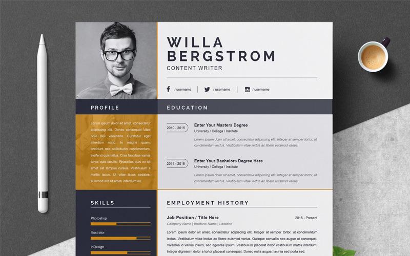 Modelo de currículo Willa