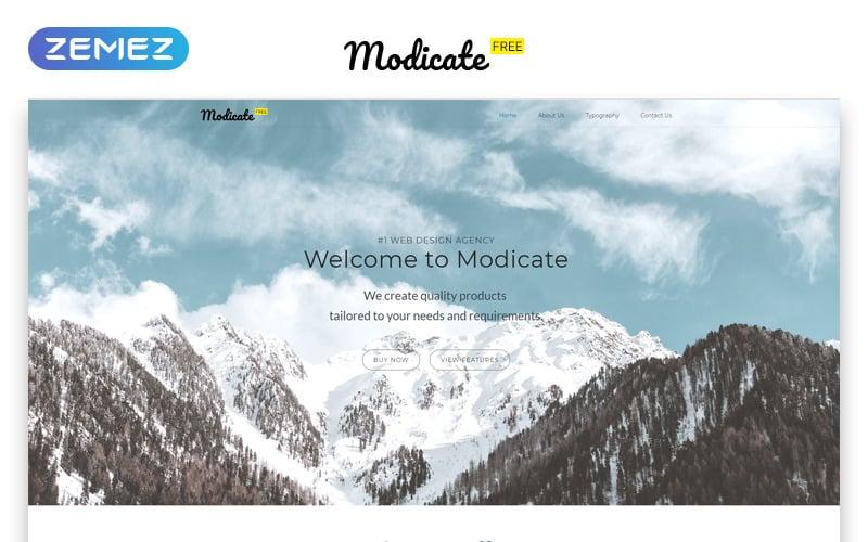 Modicate - Free version HTML Website Template