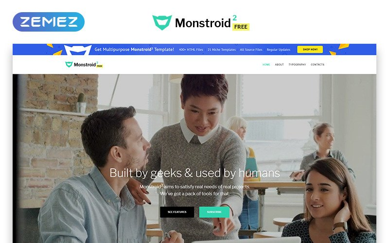 Monstroid2 - Free version HTML Website Template