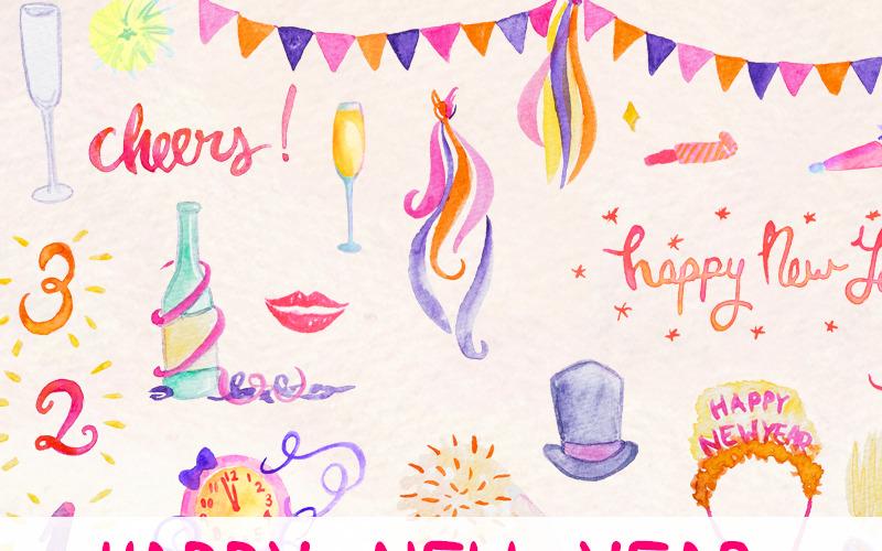 68 Новогодняя вечеринка - Иллюстрация