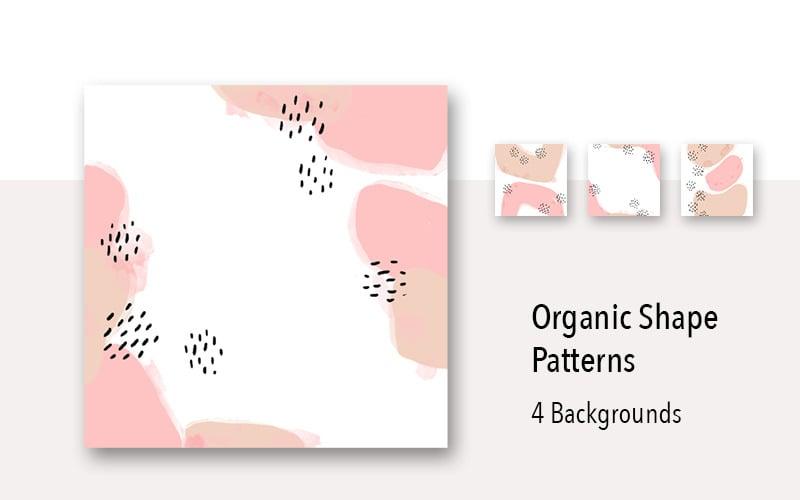 4 Organic Shape Pastel Background Pattern