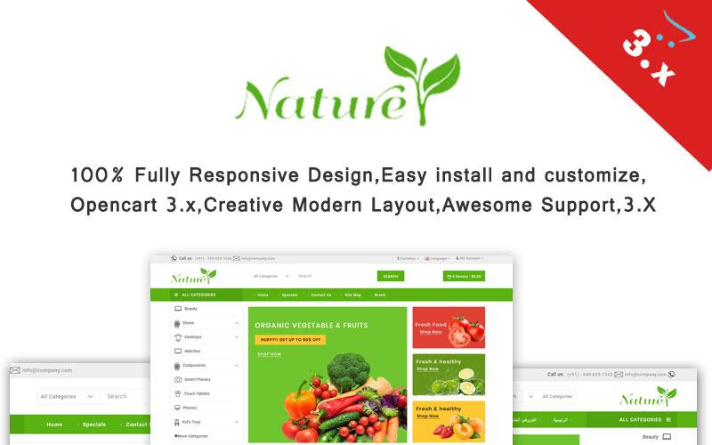 Природа - шаблон OpenCart органических и фермерских продуктов