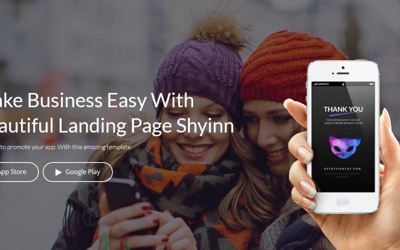 Shyinn - Responsive App Landing Joomla Template