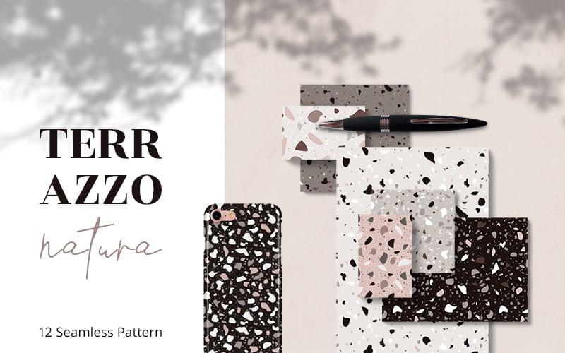 Terazzo Natura Seamless Pattern
