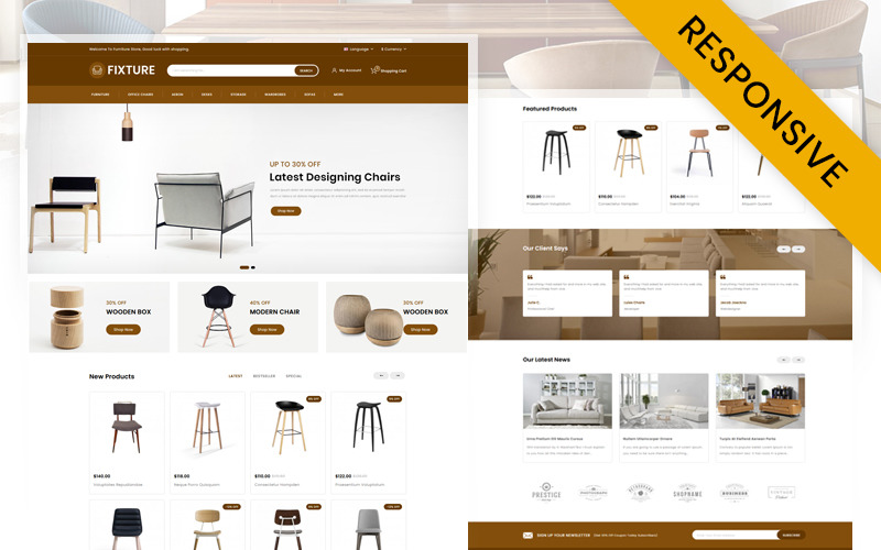 Fixture - Online Furniture Store OpenCart Template
