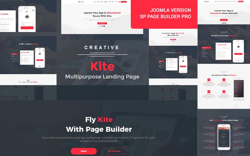 Kite Responsive One Page Joomla Template 79599