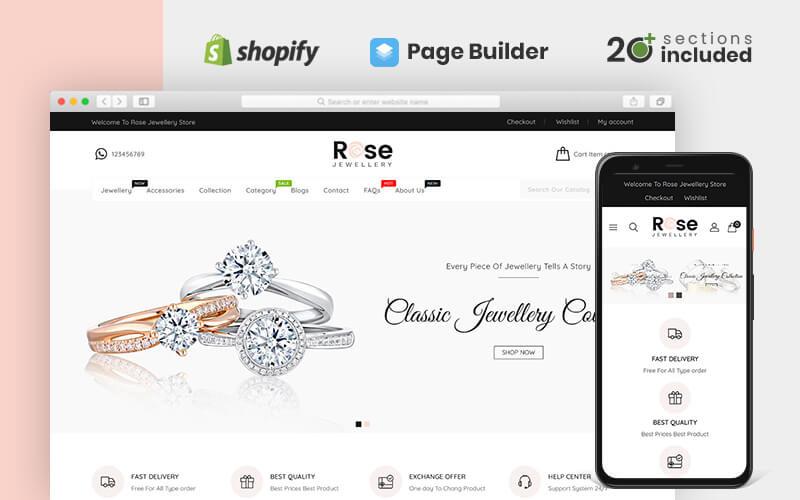 Rose Jewellery Shopify Teması