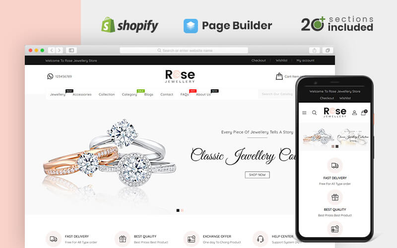 Тема Rose Jewellery Shopify