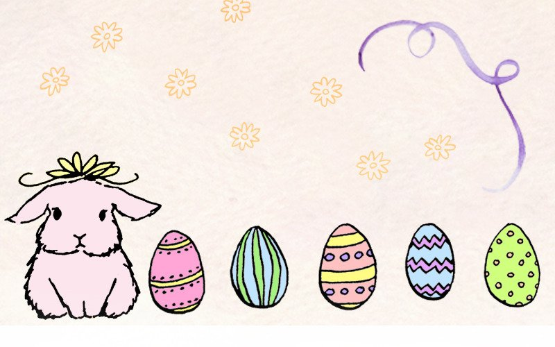 96 Easter Bunny and Egg - Illustration