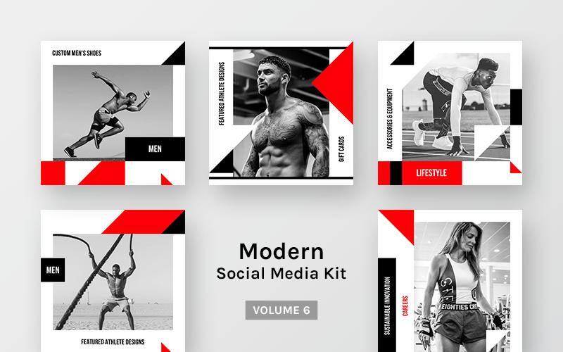 Modern Kit (Vol.6) Modèle de médias sociaux
