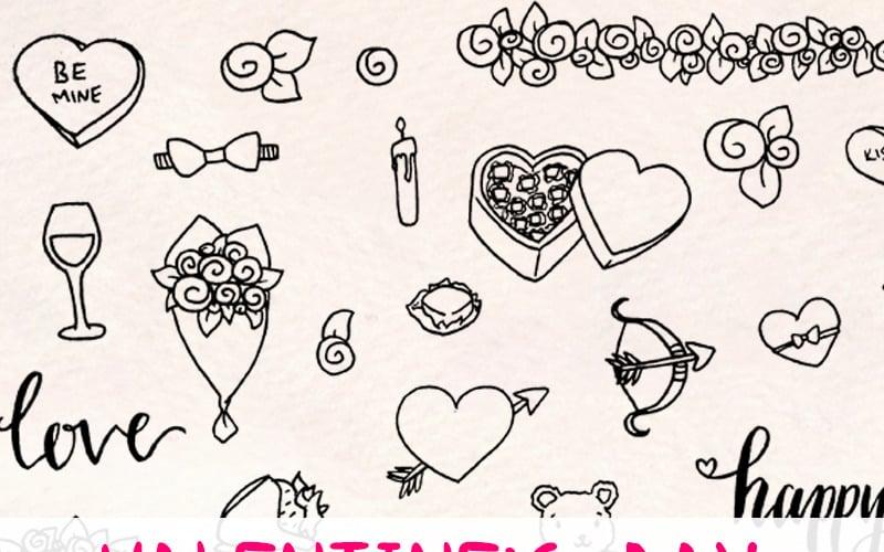 56 Romantic Valentines Day - Illustration