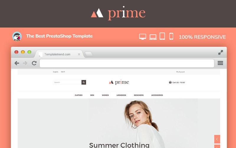 Tema PrestaShop de Prime Fashion Designer