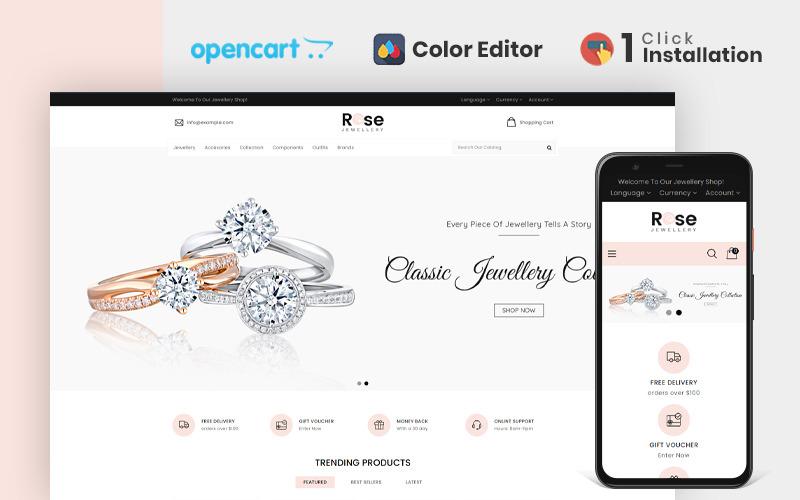Троянда ювелірного магазину шаблон OpenCart