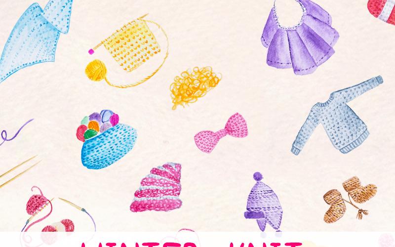 28 Зимнее вязаное - Иллюстрация