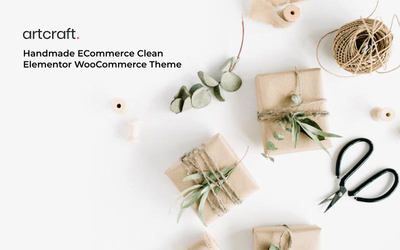 Artcraft - Handmade ECommerce Clean Elementor WooCommerce Theme