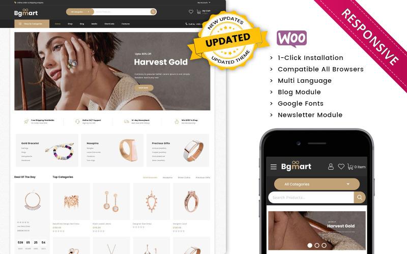 Bgmart - The Jewellery Store Responsive WooCommerce Theme