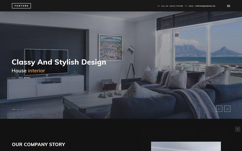 FUNTURE - шаблон веб-сайта с интерактивной архитектурой