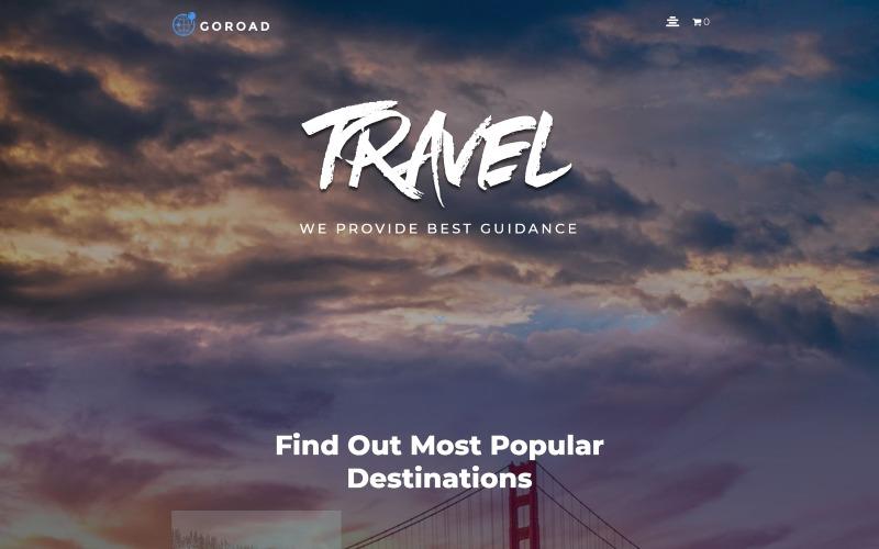 Goroad - многофункциональная современная тема WordPress Elementor для туристических агентств
