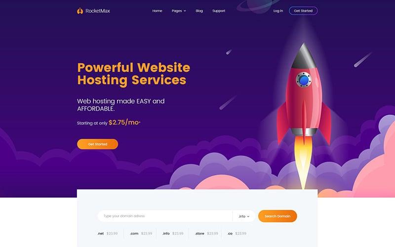 Turbolink Web Hosting and Internet Company WordPress Theme