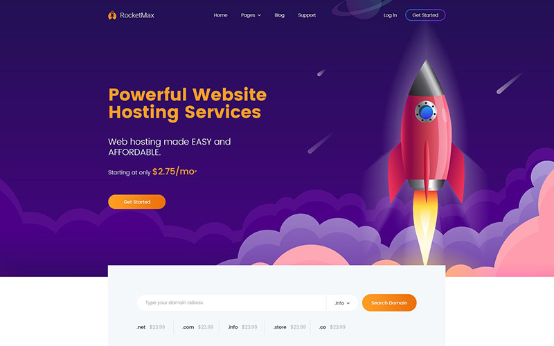 Turbolink Webhosting en internetbedrijf WordPress-thema