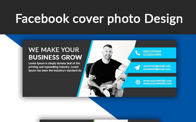 Facebook Titelbild Design Social Media Vorlage