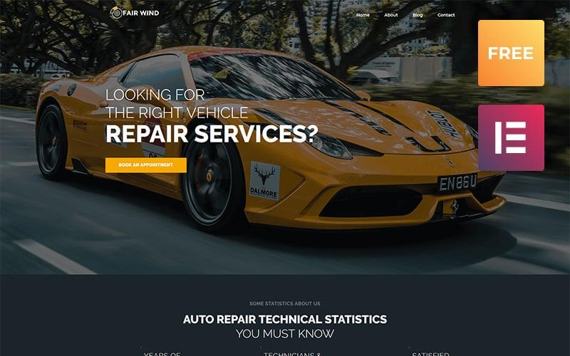 Fair Wind lite - современная тема WordPress Elementor для ремонта автомобилей