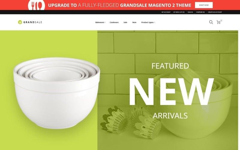 GrandSale - FREE eCommerce Wholesale Magento Theme