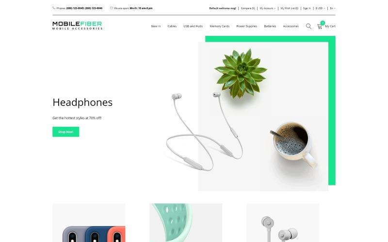 MobileFiber - Магазин мобільних аксесуарів Чистий шаблон OpenCart