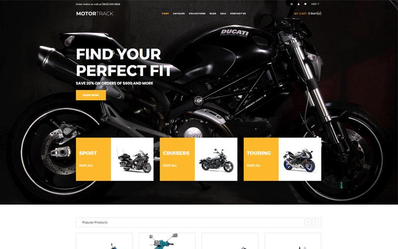 MOTORTRACK - Motorcykel Multipage Modern Shopify-tema