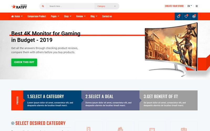 Ratify - Full Stack Affiliate Marketing Website Template