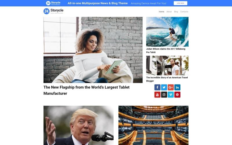 24.Storycle lite - тема WordPress для многоцелевого новостного портала Elementor