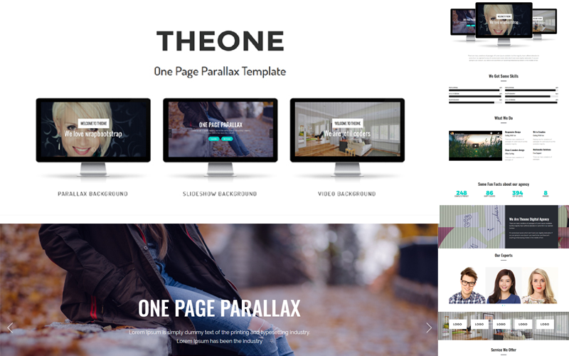 Theone - One Page Parallax Joomla Template