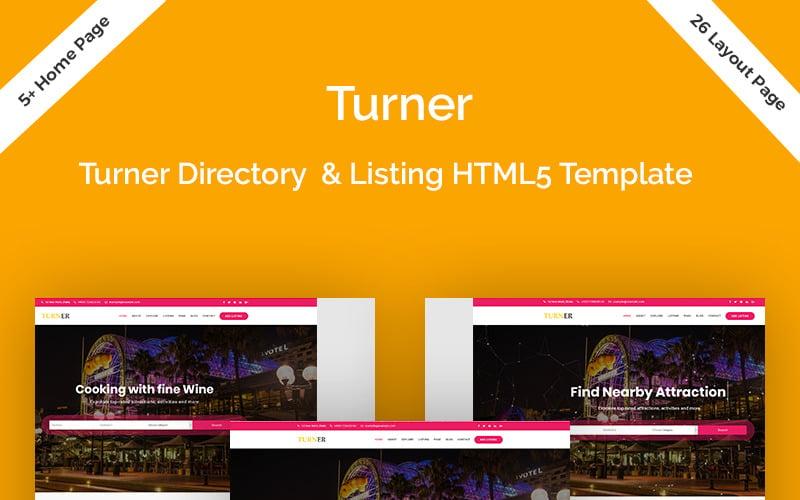 Turner - Plantilla de sitio web HTML5 de directorio y listado
