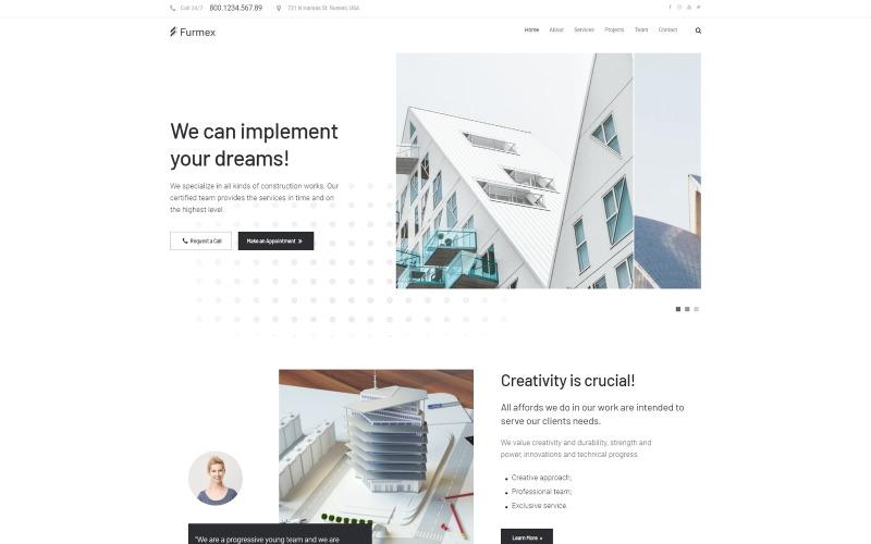 Furmex - Архитектура Многофункциональная современная тема WordPress Elementor