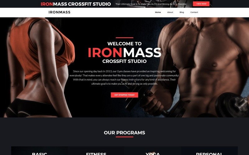 IronMass lite - Gym Fitness & Bodybuilding WordPress Theme