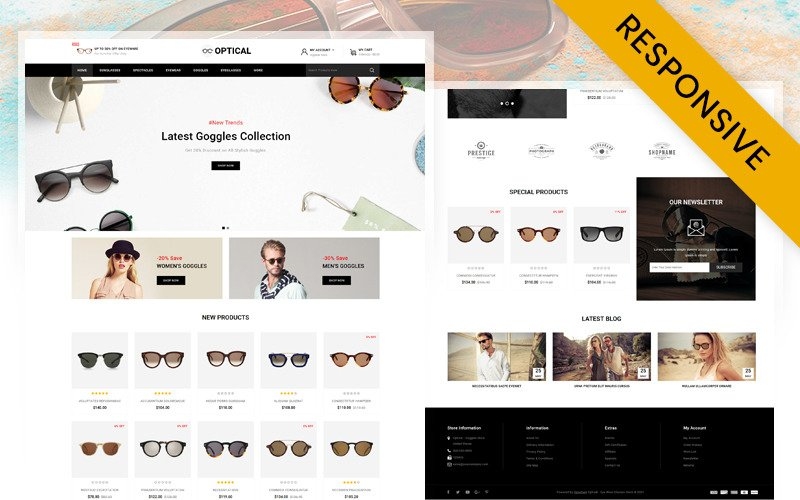 Optical - Eye Glasses Store OpenCart Template